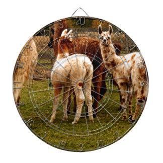 Llama family dartboard