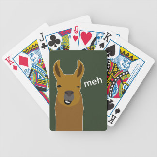 Llama Funny Face Bicycle Playing Cards