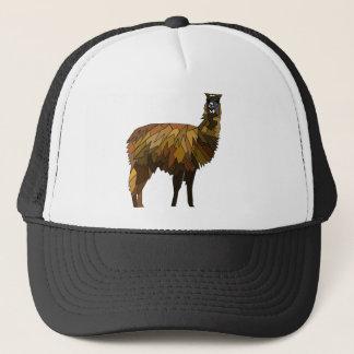 Llama geo design trucker hat