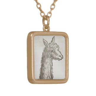 Llama Gold Plated Necklace
