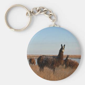 Llama Guardian Basic Round Button Keychain