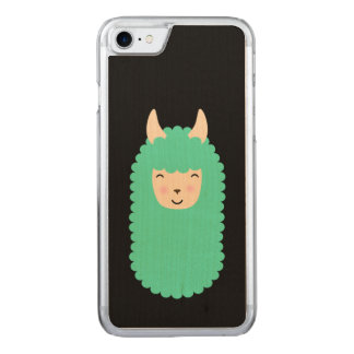 Llama Happy Emoji Carved iPhone 8/7 Case