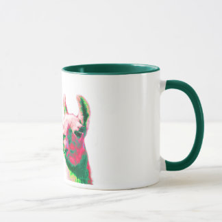 Llama Heads in a Bright Contemporary Graphic Mug