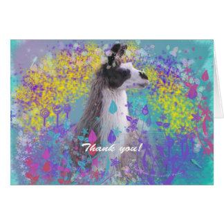 Llama in Fantasy Dream Land Card