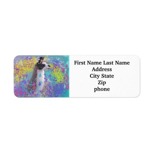 Llama in Fantasy Dream Land Return Address Label