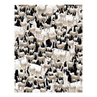 Llama Llama and more Llamas Custom Letterhead