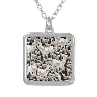 Llama Llama and more Llamas Silver Plated Necklace