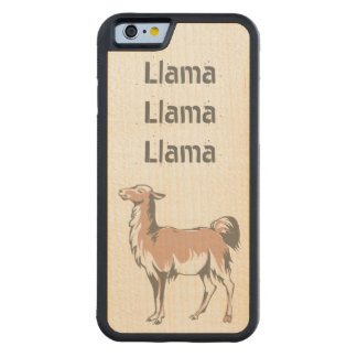 Llama Llama Llama Carved Maple iPhone 6 Bumper Case