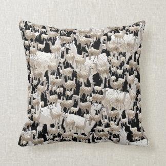 LLama, Llama, Llamas Throw Pillow