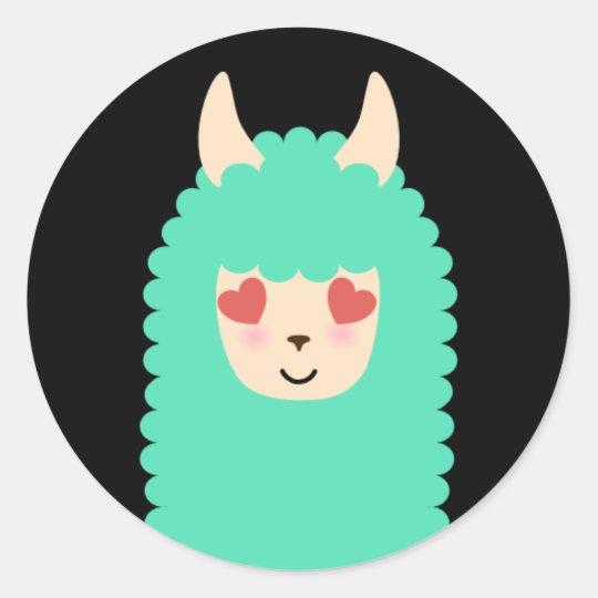 Llama Love Emoji Stickers