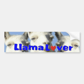 Llama Lover Bbumper STICKER Bumper Sticker