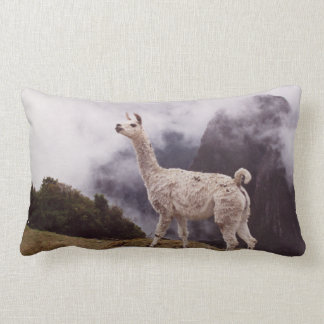 Llama Machu Picchu, Peru Lumbar Pillow