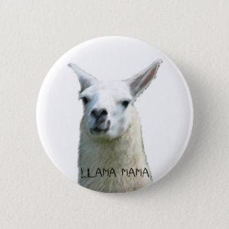 Llama Mama 2 Inch Round Button