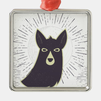 Llama Metal Ornament