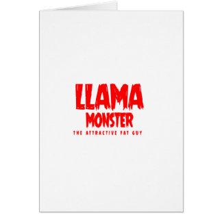 Llama Monster Red Logo Card