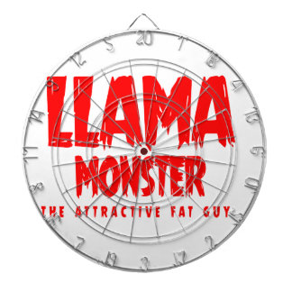 Llama Monster Red Logo Dartboard