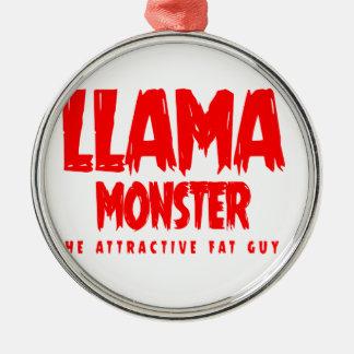 Llama Monster Red Logo Metal Ornament