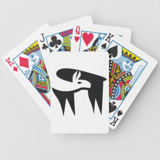 Llama NegaSpace Bicycle Playing Cards
