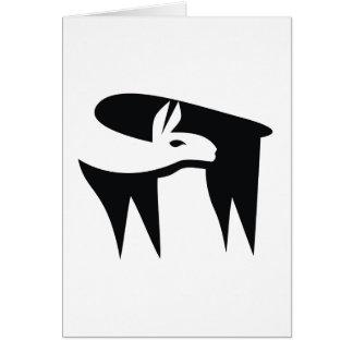 Llama NegaSpace Card