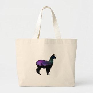 Llama Nights Large Tote Bag