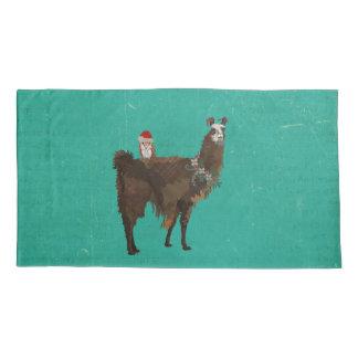 LLAMA & OWL CHRISTMAS PILLOWCASE