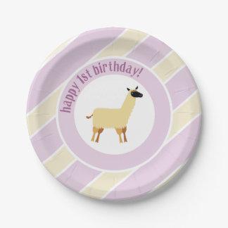 llama paper plate