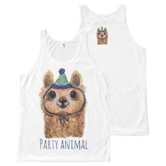 Llama Party Animal Tank Top