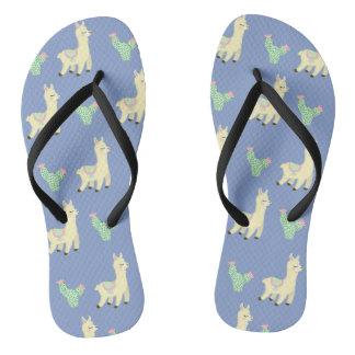 Llama Pattern Flip Flops