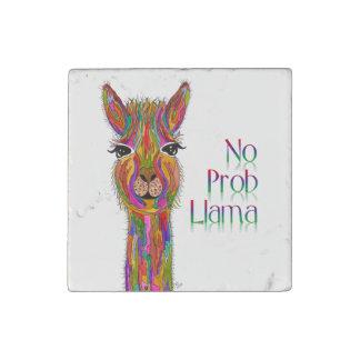 Llama Primed Marble Tile Magnet