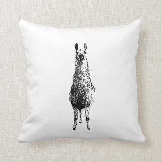 LLAMA Print Throw Pillow