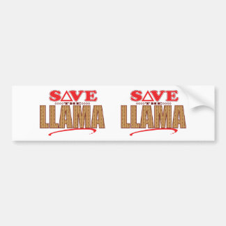 Llama Save Bumper Sticker