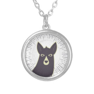Llama Silver Plated Necklace