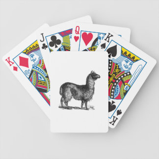 Llama Sketch Design Bicycle Playing Cards
