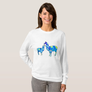 Llama Starry Night, Shirt