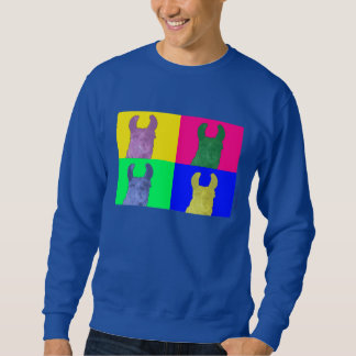 Llama Sweet Pea: The Colorful Matriarch Llama Sweatshirt