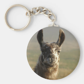 Llama Watch Basic Round Button Keychain