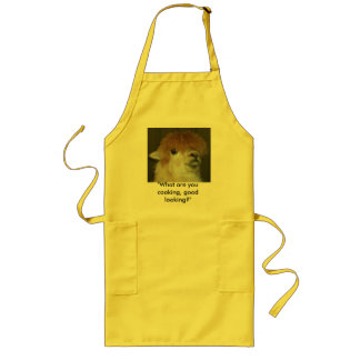 "LLama ""What are you cooking, good looking?"" Long Apron"