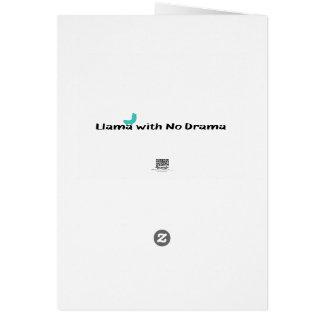 Llama With No Drama Greeting Card