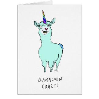 Llamacorn Crazy Card