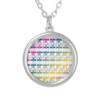 Llamapalooza Silver Plated Necklace