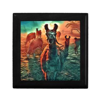 Llamas Are Watching Gift Box