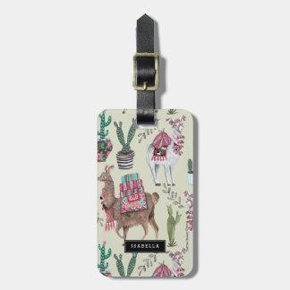 Llamas Cactus | Travel vacation | Luggage Tag