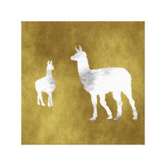Llamas Canvas Print