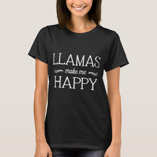 Llamas Happy T-Shirt (Various Colours & Styles)