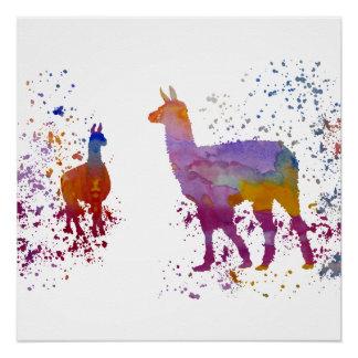 Llamas Perfect Poster