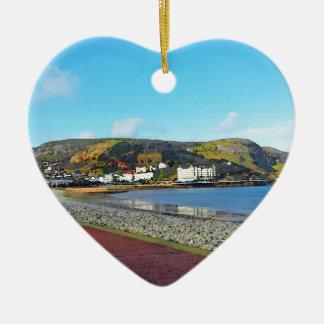 Llandudno, North Wales. Ceramic Heart Ornament