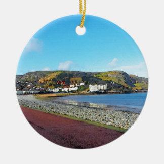 Llandudno, North Wales. Round Ceramic Ornament