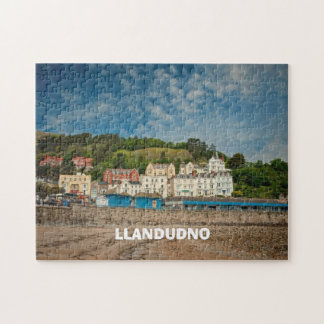 Llandudno Scenic Coastal beach view in Wales UK Jigsaw Puzzle