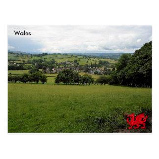 Llanigon village, Powys, Wales Postcard