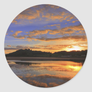 Llanstephan Sunset Classic Round Sticker